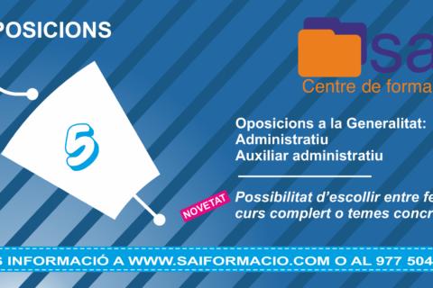 Oposicions a la Generalitat, Administratiu i Auxiliar Administratiu.